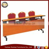 Hot sale high quality folding wooden top modern folding conference table