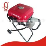 Cast Iron Charcoal BBQ Grill With Wheels
