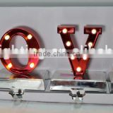 Popular Front Light Fairground Light Up Letter, Wedding Decoration Marquee LOVE Bulbs Exposed Light Sign