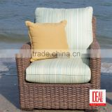 new outdoor pvc rattan furniture/Handmade Design Wicker Armchair with Cushion /Living Room Furniture Arm Chair
