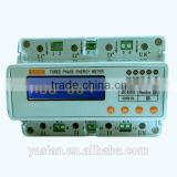 Three phase 4 wire mounted Multifunction +5A CT mudbus Smart DIN rail energy meter GH300