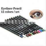 Menow 12colors super waterproof gel eyeliner pencil