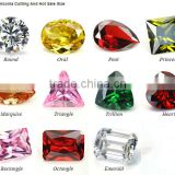 2016 factory outlets wholesale AAA 12 designs CZ stone Synthetic Cubic Zircon Stone, Gem Stone