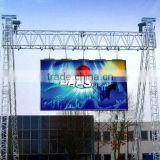 Outdoor P8 full color advertising rental LED display screen with die-casting aluminum cabinet