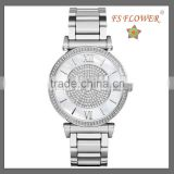 2014 Best Selling Diamond Steel Watch Womens Men Gifts Item