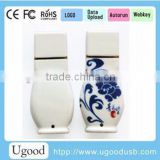China Ceramic USB flash drive,pen drive with real capacity, blue and white porcelain USB flash memory stick from China Alibaba