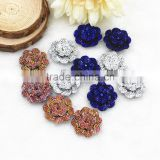 New arrival flatback resin flowers in ab color bling resin bows DIY resin cabochons accessories