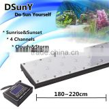 240cm/96inch/240w DSunY freshwater light 6ft programmable led aquarium light with sunset/sunrise