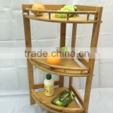 Olive bamboo storage bathroom shampoo rack