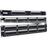 19'' UTP 48 ports 180 degree amp cat5e patch panel