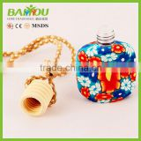 2015 new products bulk buy from china 15ml customizable hanging car perfume glass bottles