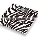 Popular Hot-selling Zebra Design Digital Glass Personal Body Weight Scale With Good Price