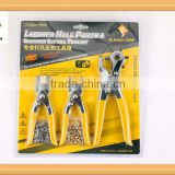 3 in 1 Hole Punch Pliers Set with Dipped PVC 3pcs