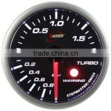 52mm auto gauge smoke lens / super white LED Turbo gauge with warning function/made of Swiss Stepper Movement