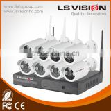 LS VISION HD 1.3mp 8ch 960P wireless nvr kits ipc cctv tester for 2 years warranty