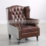 AVIATOR CHESTERFIELD SOFA 1 SEATER professior chair, aviator Vintage Leather Chair