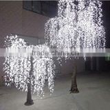 Decorative tree with weeping willow leaves garden light, led willow tree Lighting For Garden