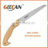 Steel material blade wood saw with wooden handle hand saw wooden handle