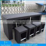 Great Durability Factory Directly Wicker Pub Bar Furniture Set
