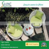 white garden furniture rattan round sofa bed set, egg chair C916-1