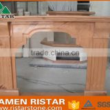 High quality yellow wooden vein marble fireplace surround mantel RST-FP-DLS055