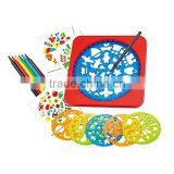 Cheap Educational Drawing Tools Custom Plastic Painting Stencil For kids