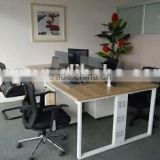 Modern Wooden 4 Seats Office Partition Workstation Office Furniture