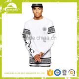 Lastest Men's Long 100% Cotton Screen Printing Oversized T shirt