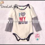 tinaluling brand I love my Mom long sleeve baby rompers,infant and toddler bodysuits