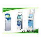 Floor Standing Card Dispenser Kiosk , Check Cashing Kiosk With Account Inquiry / Transfer