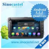 8 inch android 5.1.1 car dvd player for VW Universal with HD Screen 1024X600 Resolution