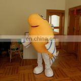 Yellow croaker mascot costume for Ocean park