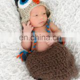 Wholesale Newborn Hat ,Crochet Newborn Baby Boys Animal Ear Flap OWL Beanie Photo Props