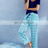 Smooth Polyester/cotton PJ Pant/Top Tee