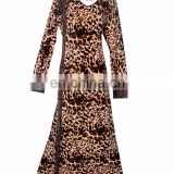 Women's Lycra (Stretchable) Animal Printed & Golden Stone Work Burqa / Casual Wear Fashionable Cheetah Print Bukha
