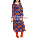 Women Rayon Soft Cotton Printed Kurti (Straight_Kurta_2017)