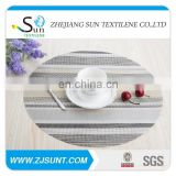 Hot sale grey stripe PVC coaster in 2015