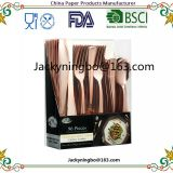 160Pieces Rose Gold Plastic Cutlery Set Silverware Disposable Heavy Duty Flatware Includes 80 Forks 40 Spoons 40 Knifes