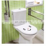 Funny animal face toilet stickers for bathroom decoration