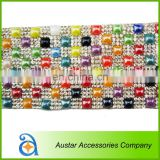 Wholesale hot fix crystal rhinestone mesh