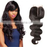 Hot selling top quality natural hair cheap lace closure