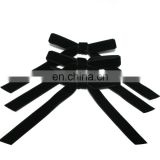 Black velvet ribbon bow