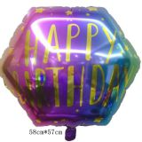 foil balloon  happy birthday hexagon helium balloon mylar balloon party balloon decoration balloon