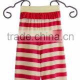 baby girl wholesale ruffle pants for adults with pink stripe pants