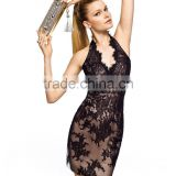 High Quality 2014 new youth v-neck tank sleeveless mini Party Dress with lace sheath teenage party dress