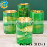 2016 New Item Blue Seaglass Hurricane Candle Holders / Votive Candle Holder / Glass Candle Jar