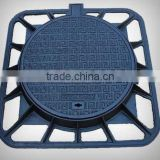 ductile iron round cover with square frame manhole cover