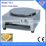 2015 Hot selling high quality non-stick single plate electric crepe maker machine