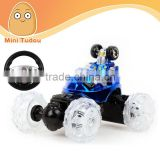 RC Stunt hobby Car with steering wheel in Gravity sensing, with light and music, rc car, rc toys