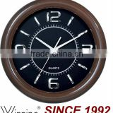 Plastic Material Painted Wooden Wall Clock